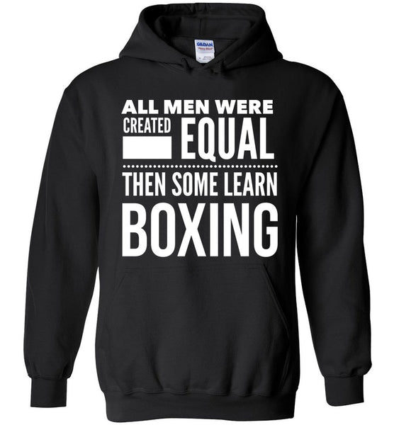 ALL MEN, LEARN BOXING * Heavy Blend Hoodie - ArtsyMod.com