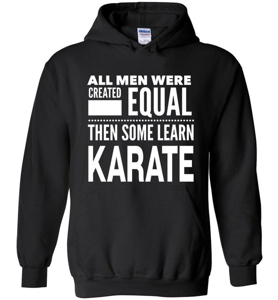 ALL MEN, LEARN KARATE * Heavy Blend Hoodie - ArtsyMod.com