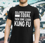 ALL MEN, LEARN KUNG FU Gift For Sifu, Student * Short-Sleeve T-Shirt Tee - ArtsyMod.com