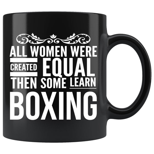 ALL WOMEN, LEARN BOXING Gift For Boxer * Black Coffee Mug 11oz. - ArtsyMod.com