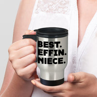 BEST EFFIN NIECE * Silver Stainless Travel Mug 14oz. CC - ArtsyMod.com