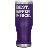 BEST EFFIN NIECE Funny Gift From Aunt Uncle * Skinny Boho Vacuum Tumbler 20 oz. - ArtsyMod.com