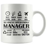 BUSINESS OPERATIONS MANAGER * Unique Professional Gifts * White Coffee Mug 11oz. - ArtsyMod.com