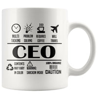 CHIEF EXECUTIVE OFFICER / CEO * Unique Professional Gifts * White Coffee Mug 11oz. - ArtsyMod.com