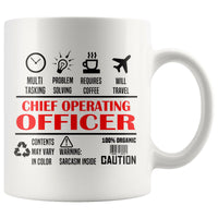 CHIEF OPERATING OFFICER / COO * Unique Professional Gifts * White Coffee Mug 11oz. Drinkware Red/Black Print