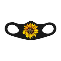 SUNFLOWER ANIMAL PRINT Face Mask Fitted Sublimation All Over Print - Style 4 - ArtsyMod.com