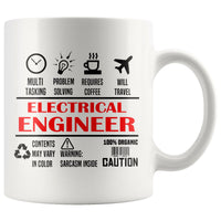 ELECTRICAL ENGINEER * Unique Professional Gifts * White Coffee Mug 11oz. Drinkware Red/Black Print
