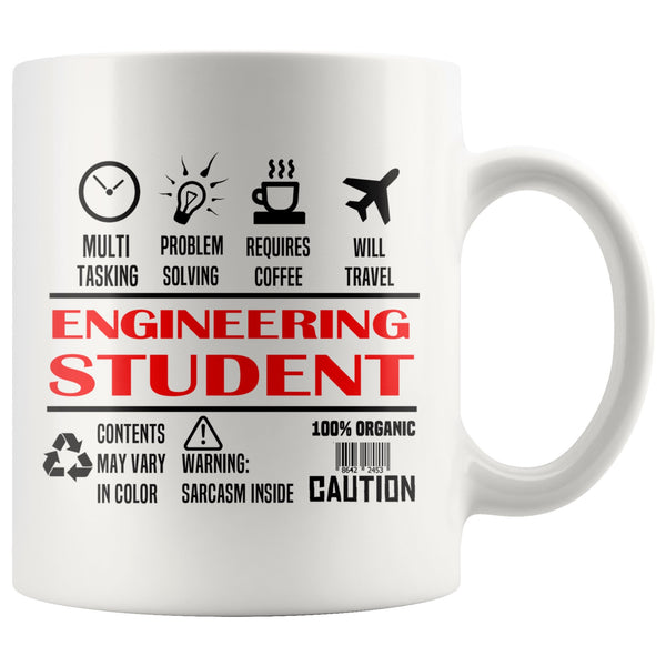ENGINEERING STUDENT * Unique Gifts For College University Students * White Coffee Mug 11oz. - ArtsyMod.com