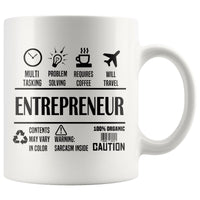 ENTREPRENEUR * Unique Professional Gifts * White Coffee Mug 11oz. - ArtsyMod.com