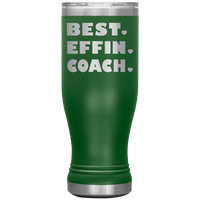 BEST EFFIN COACH With Hearts * Skinny Boho Vacuum Tumbler 20 oz. - ArtsyMod.com