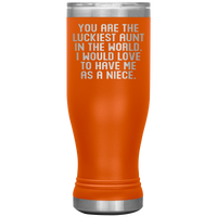 YOU ARE THE LUCKIEST AUNT From NIECE Funny Gift * Skinny Boho Vacuum Tumbler 20 oz. - ArtsyMod.com