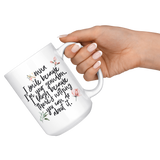 NONNA I SMILE BECAUSE I'M YOUR GRANDSON Funny Mug * White Coffee Mug 11oz. / 15oz. - ArtsyMod.com
