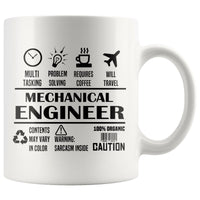 MECHANICAL ENGINEER * Unique Professional Gifts * White Coffee Mug 11oz. Drinkware Black Print