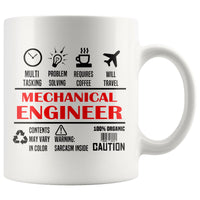 MECHANICAL ENGINEER * Unique Professional Gifts * White Coffee Mug 11oz. Drinkware Red/Black Print