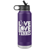 LIVE LOVE TENNIS * Water Bottle Tumbler 32 OZ.
