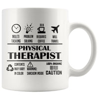 PHYSICAL THERAPIST * Unique Professional Gifts * White Coffee Mug 11oz. - ArtsyMod.com