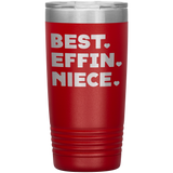 BEST EFFIN NIECE With Hearts * Vacuum Tumbler 20 oz. - ArtsyMod.com