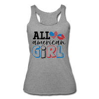 ALL AMERICAN GIRL 4th of July Women's Tri-Blend Racerback Tank - ArtsyMod.com
