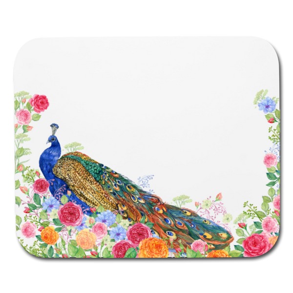 FLORAL PEACOCK ROSES * Mouse pad Horizontal - SP - ArtsyMod.com