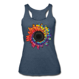 BEAUTIFUL BRIGHT SUNFLOWER Women's Tri-Blend Racerback Tank - Style 22 - ArtsyMod.com