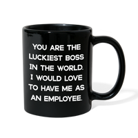 LUCKIEST BOSS FROM EMPLOYEE - Full Color Coffee Mug 11oz. - SP - black