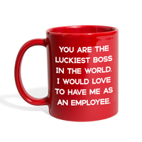 LUCKIEST BOSS FROM EMPLOYEE - Full Color Coffee Mug 11oz. - SP - red