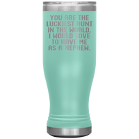 YOU ARE THE LUCKIEST AUNT From NEPHEW Funny Gift * Skinny Boho Vacuum Tumbler 20 oz. - ArtsyMod.com