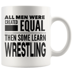 ALL MEN, LEARN WRESTLING Gift For Wrestler Team Coach Teacher Student Man Guy * White Coffee Mug - ArtsyMod.com