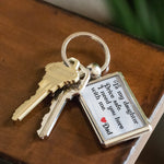 TO MY DAUGHTER DRIVE SAFE Love DAD Metal Keychain Keychain