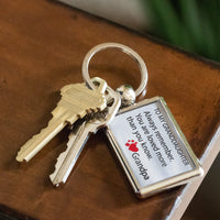 TO MY GRANDDAUGHTER ALWAYS REMEMBER Love GRANDPA Metal Keychain - ArtsyMod.com