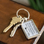 TO MY HUSBAND ALWAYS REMEMBER Love YOUR WIFE * Metal Keychain - ArtsyMod.com