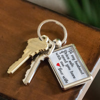 TO MY HUSBAND DRIVE SAFE Love YOUR WIFE * Metal Keychain - ArtsyMod.com