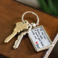 TO MY SON DRIVE SAFE Love DAD * Metal Keychain - ArtsyMod.com
