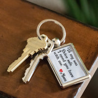 TO MY SON DRIVE SAFE Love MOM * Metal Keychain - ArtsyMod.com