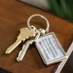 TO MY WIFE ALWAYS REMEMBER Love YOUR HUSBAND * Metal Keychain - ArtsyMod.com