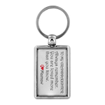 TO MY GRANDDAUGHTER ALWAYS REMEMBER From MAMAW Quality Metal Keychain - ArtsyMod.com