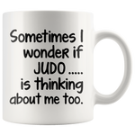I WONDER IF JUDO * White Coffee Mug - TL