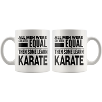 ALL MEN, LEARN KARATE Gift For Martial Arts Sensei Teacher Student Man Guy * White Coffee Mug - ArtsyMod.com