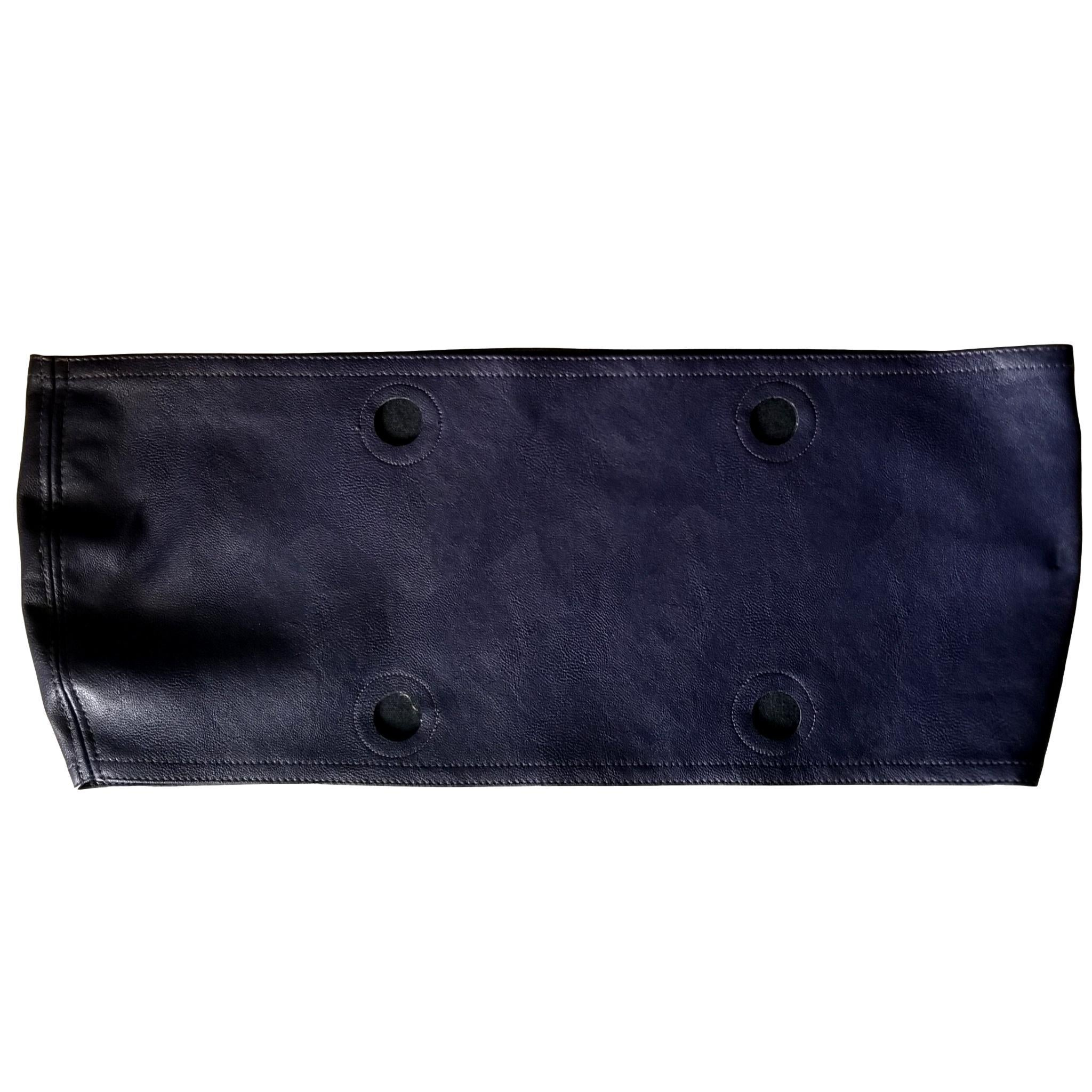 SLO Fashion Handbags. Faux Leather Purple Trim accessory