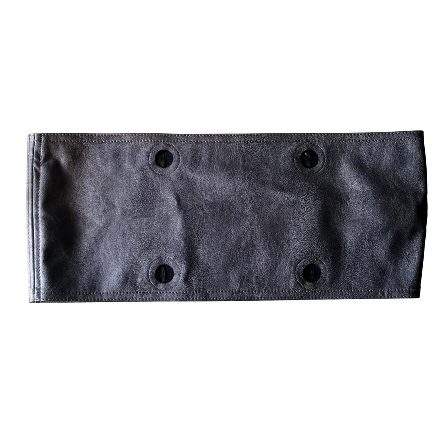 SLO Fashion Handbags. Faux Leather Gun Metal Grey Trim accessory