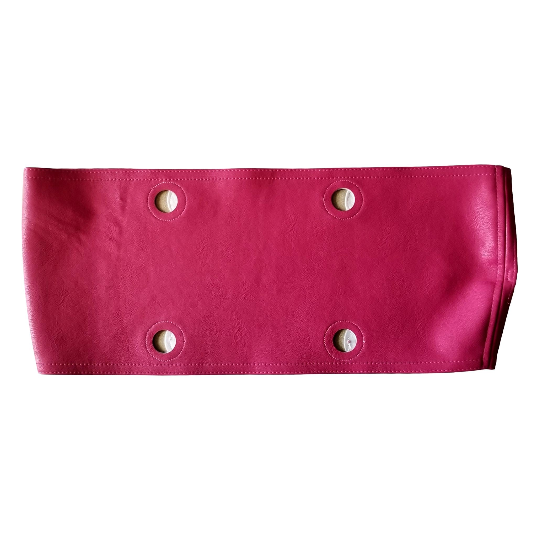 SLO Fashion Handbags. Faux Leather Pink Trim accessory