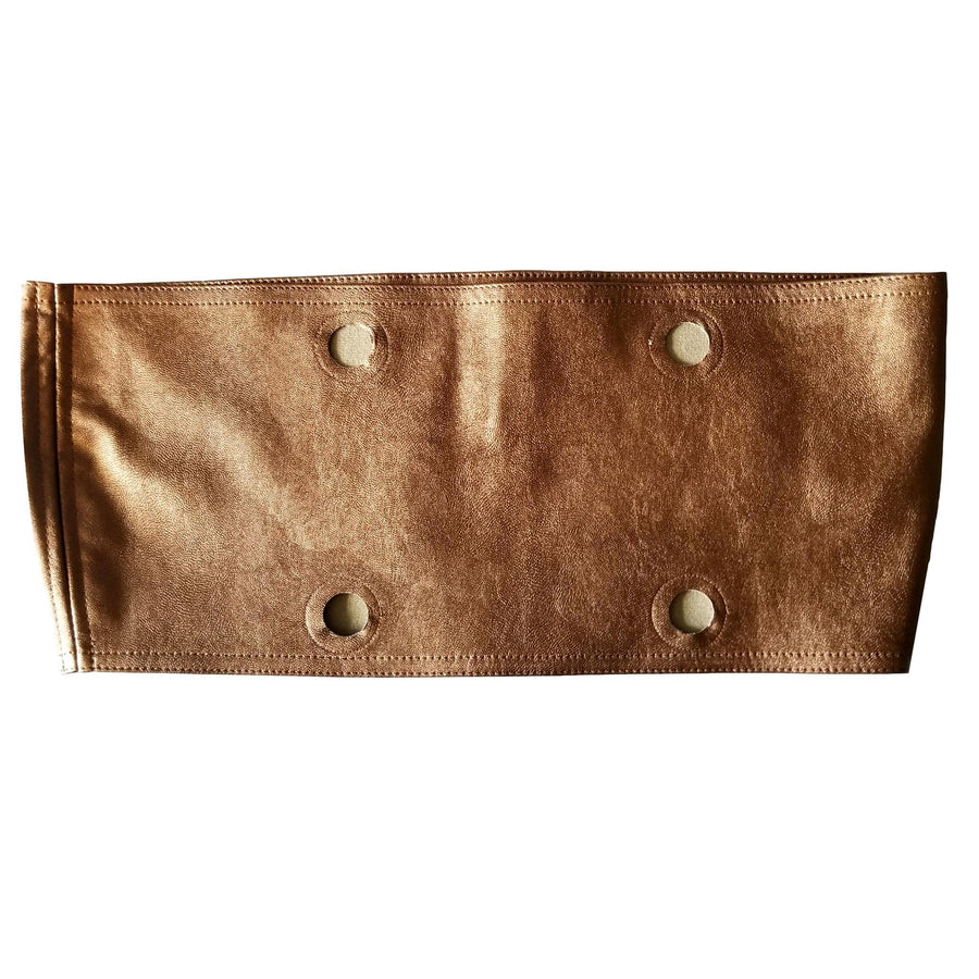 SLO Fashion Handbags. Faux Leather Copper Trim accessory