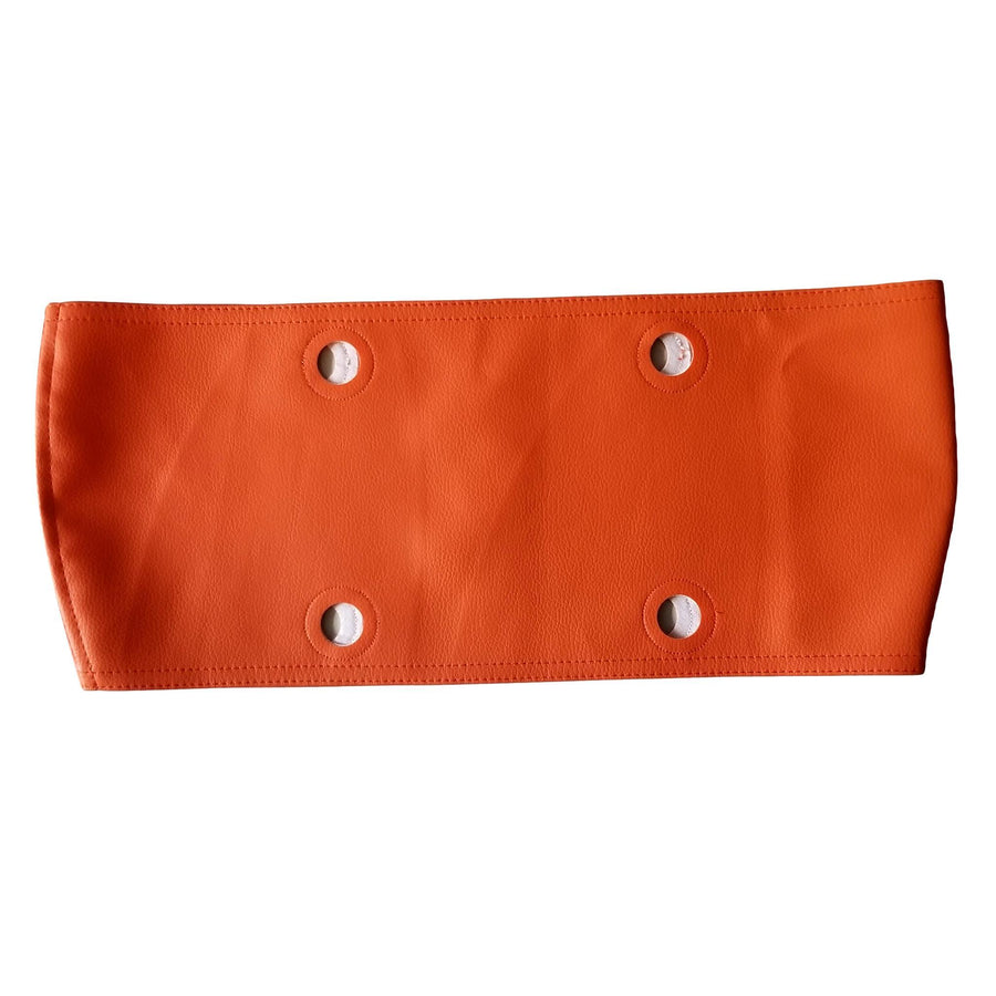 SLO Fashion Handbags. Faux Leather Orange Trim accessory