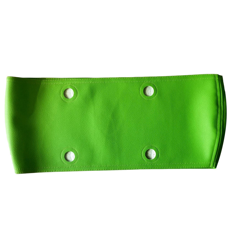 SLO Fashion Handbags. Faux Leather Green Apple Trim accessory