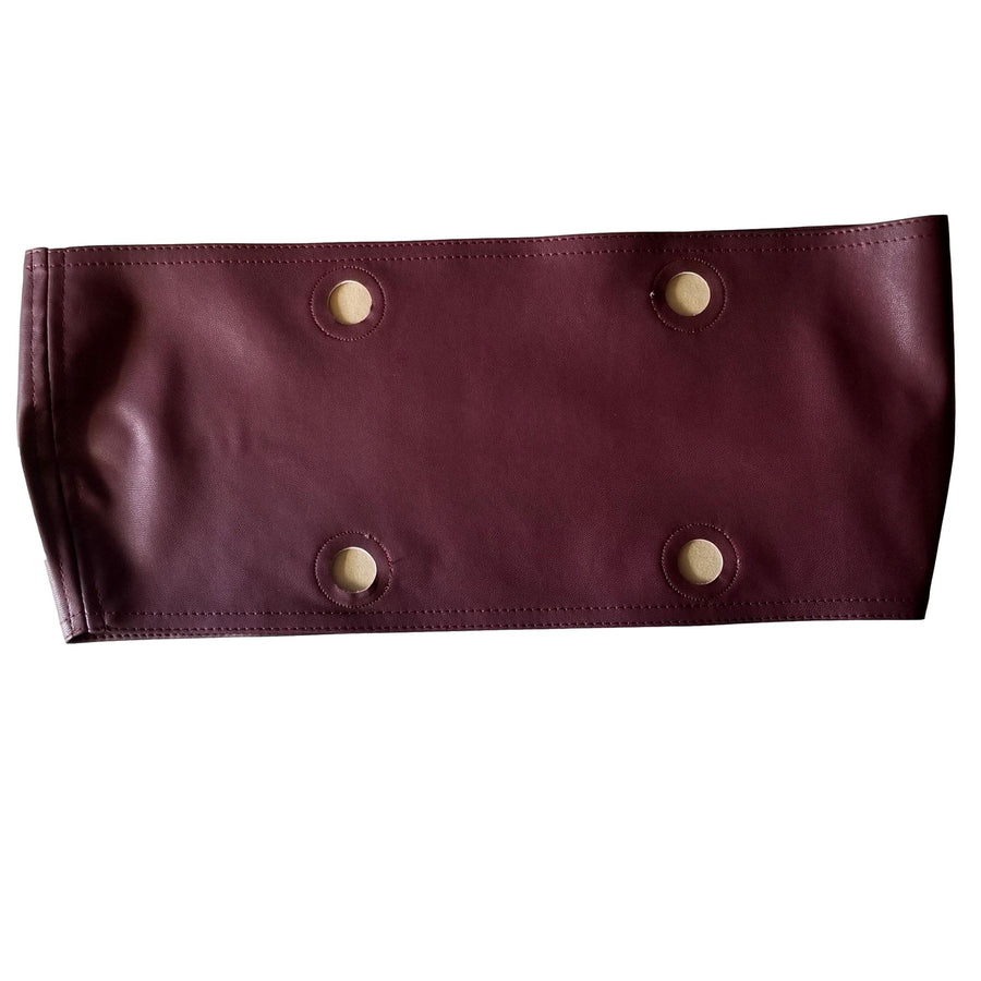 SLO Fashion Handbags. Faux Leather Trim accessory