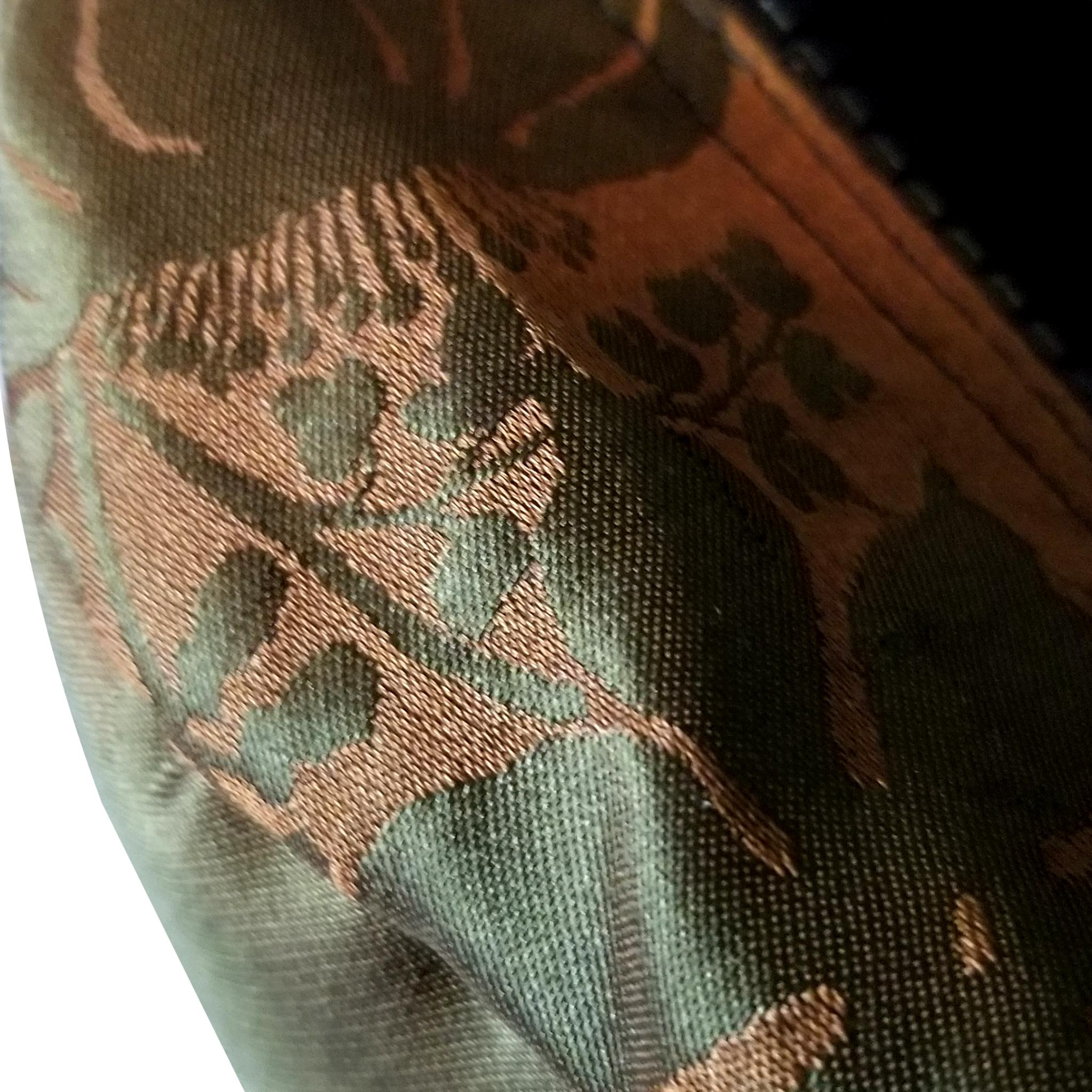 SLO Fashion Olive Green and Copper Silk Designer Insert