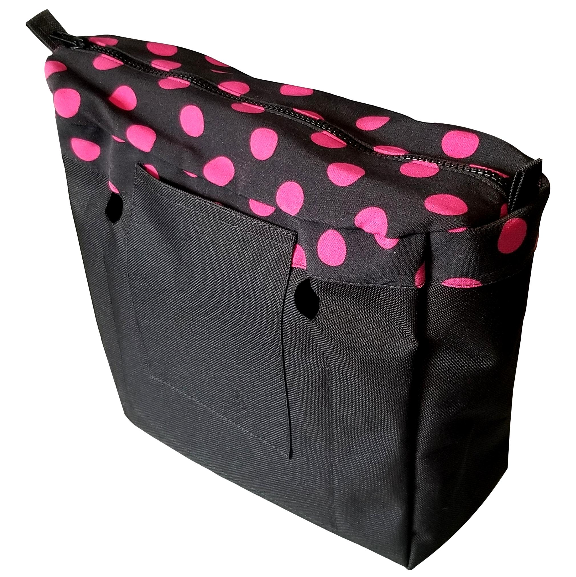 SLO Fashion Black with Pink Polka Dots Designer Insert