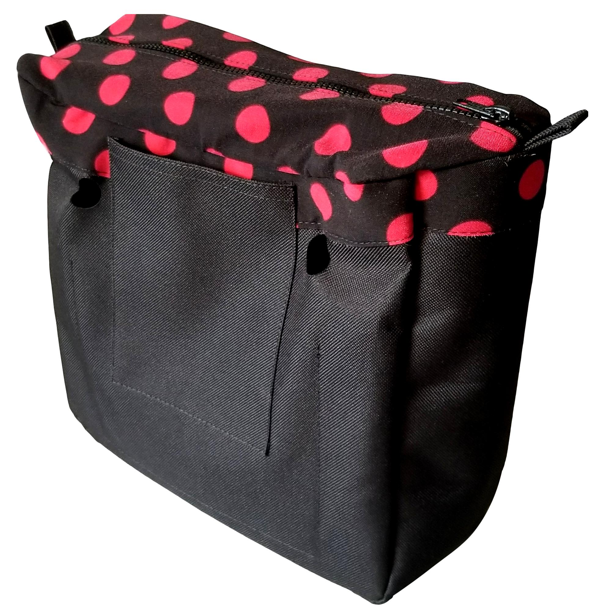 SLO Fashion Black with Red Polka Dots Designer Insert