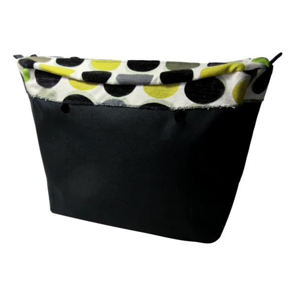 SLO Fashion Handbags - Designer Series Custom Insert Organizers - Autumn and Black Velvet Dots