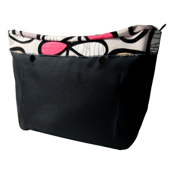 SLO Fashion Handbags - Designer Series Custom Insert Organizers - Bows of Colour & Black Velvet Swirls